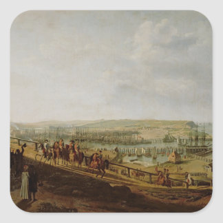 Napoleon I  Visiting the Camp at Boulogne Square Sticker