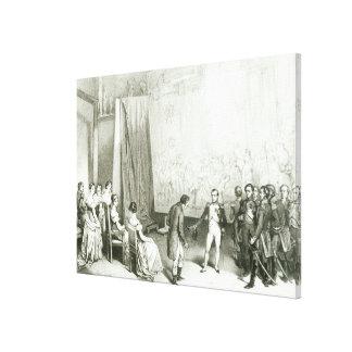 Napoleon I  Visiting the Studio of David Canvas Print