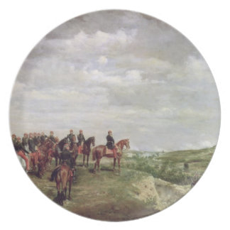 Napoleon III (1808-73) en la batalla de Solferino Platos Para Fiestas