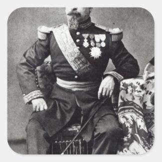Napoleon III, 1860-70 Pegatina Cuadrada