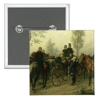 Napoleon III and Bismarck Pinback Button