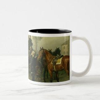 Napoleon III and Bismarck Two-Tone Coffee Mug