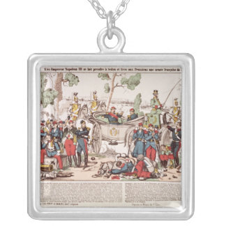 Napoleon III  arrives at Sedan Silver Plated Necklace
