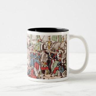 Napoleon III  arrives at Sedan Two-Tone Coffee Mug