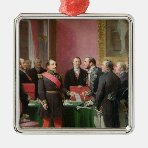 Napoleon III  Hands Over The Decree Christmas Ornament