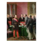 Napoleon III  Hands Over The Decree Post Card