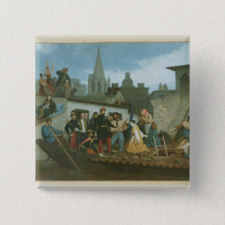 Napoleon III  Visiting Flood Victims of Button