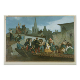 Napoleon III  Visiting Flood Victims of Poster