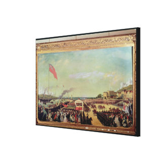 Napoleon III  Welcoming Queen Victoria Canvas Print