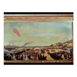 Napoleon III  Welcoming Queen Victoria Postcard