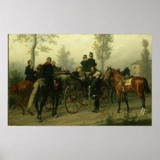 Napoleon III y Bismarck Póster