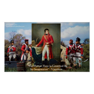 "Napoleon ""Imagination Rules"" Quote poster sleeve b"