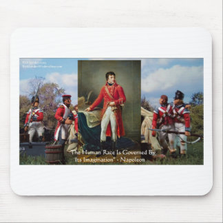 "Napoleon ""Imagination Rules"" Wisdom Gifts Tees Etc Mouse Pad"