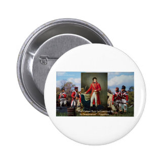 "Napoleon ""Imagination Rules"" Wisdom Gifts Tees Etc Pinback Button"
