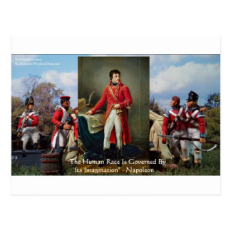 "Napoleon ""Imagination Rules"" Wisdom Gifts Tees Etc Postcard"