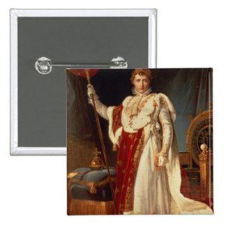 Napoleon in Coronation Robes, c.1804 2 Inch Square Button
