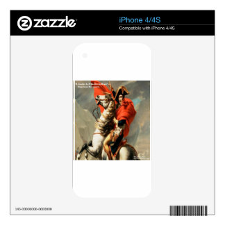 "Napoleon & ""Leader"" Quote Decal For The iPhone 4S"