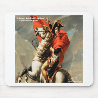 "Napoleon & ""Leader"" Quote Mouse Pad"