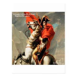 "Napoleon & ""Leader"" Quote Postcard"