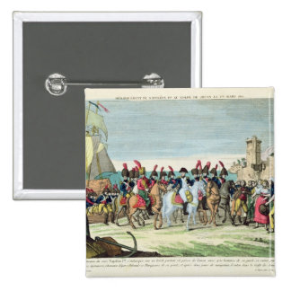 Napoleon  Leaving for Golf Juan, 1st March 1815 2 Inch Square Button