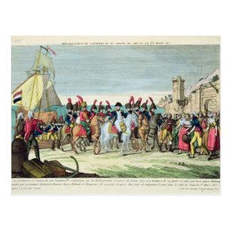 Napoleon  Leaving for Golf Juan, 1st March 1815 Postcard