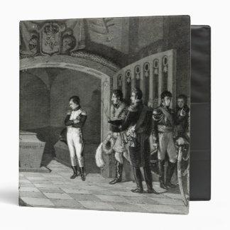 """Napoleon Meditating antes de la tumba Carpeta 1 1/2"""""""