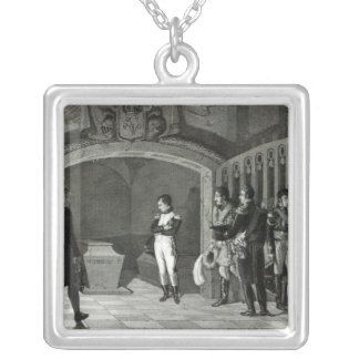 Napoleon Meditating before the Tomb Silver Plated Necklace