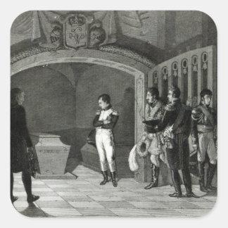 Napoleon Meditating before the Tomb Square Sticker