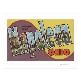 Napoleon, Ohio - Large Letter Scenes Postcard