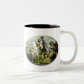 Napoleon on a horse Two-Tone coffee mug