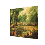 Napoleon on a hunt in the Compiegne Forest, 1811 Canvas Print