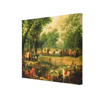 Napoleon on a hunt in the Compiegne Forest, 1811 Gallery Wrap Canvas