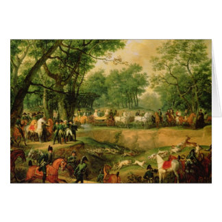 Napoleon on a hunt in the Compiegne Forest, 1811 Card