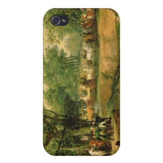 Napoleon on a hunt in the Compiegne Forest, 1811 iPhone 4 Covers