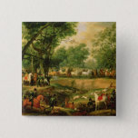 Napoleon on a hunt in the Compiegne Forest, 1811 Pinback Button