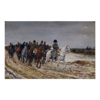Napoleon  on Campaign in 1814, 1864 Print