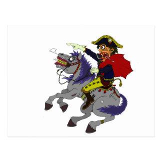 Napoleon on rampage postcard