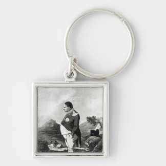 Napoleon on the island of St. Helena, 1820 Silver-Colored Square Keychain