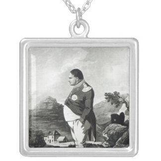 Napoleon on the island of St. Helena, 1820 Silver Plated Necklace