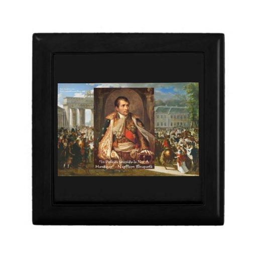 "Napoleon ""política de la estupidez"" cita Kee decor Caja De Regalo"