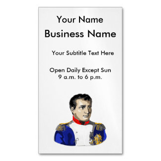 Napoleon Poster Style Drawing Business Card Magnet