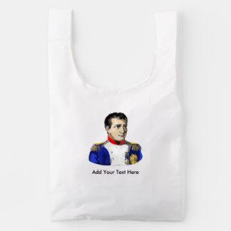 Napoleon Poster Style Drawing Reusable Bag