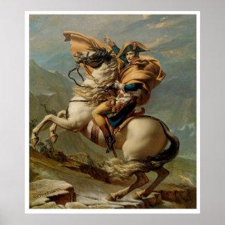 Napoleon que cruza el poster 1800 de la impresión