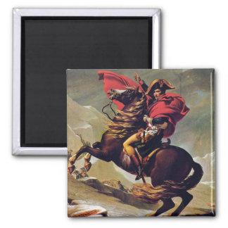 Napoleon que cruza el St Bernard Imán Cuadrado