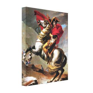 Napoleon que cruza la impresión de la lona de las  impresión en lona estirada