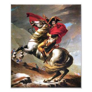 Napoleon que cruza la impresión de las montañas fotografías