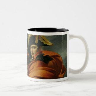 Napoleon que cruza las montañas 2 tazas de café