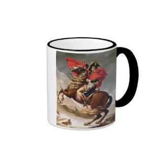 Napoleon que cruza las montañas, c.1800 (aceite en taza de dos colores