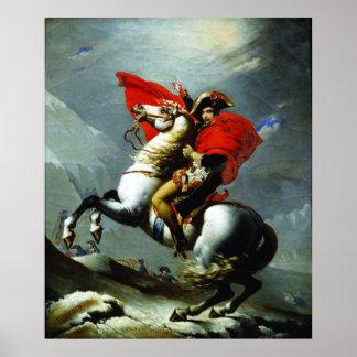 Napoleon que cruza las montañas (calidad perfecta) póster