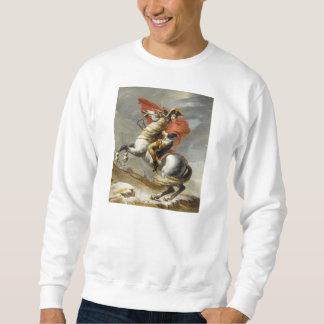 Napoleon que cruza las montañas de Jacques Louis Sudaderas Encapuchadas